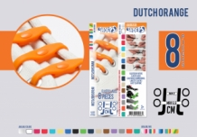 SHOEPS DUTCH ORANGE 8 STUKS